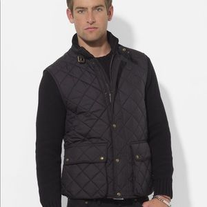 Polo by Ralph Lauren Epson Quilted Vest Black